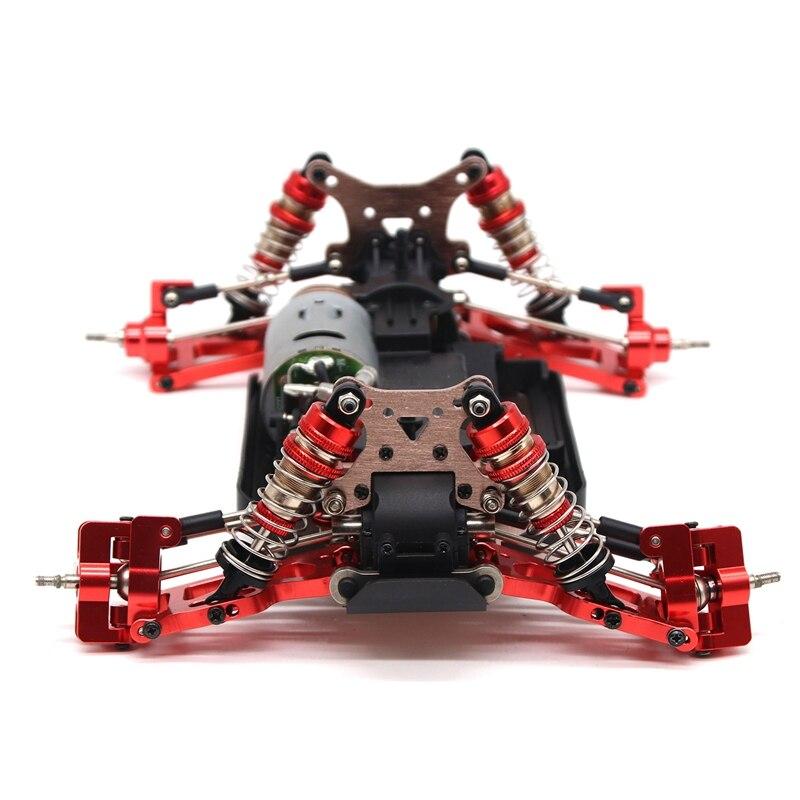Wltoys 144001 for WLtoys 1:14 144001 RC Car Upgrade Parts Metal Steering Swing Arm Base C Rear Hub Seat Servo Pull Rod wltoys